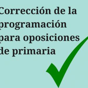 Corrección de la programación