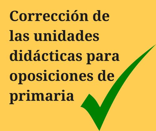 Corrección de las unidades didácticas