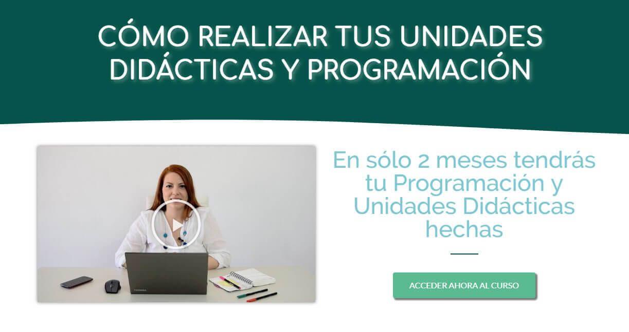 Curso Programación y unidades didácticas primaria